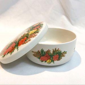 Italglass ceramic food dish with lid
